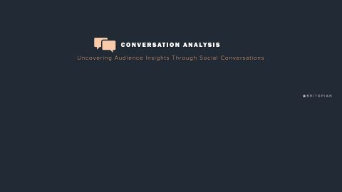 Conversation Analysis: Uncovering Audience Insights Using Social Media